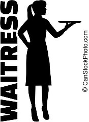 Waitress with job title