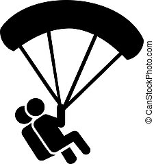 Skydiving Couple Icon