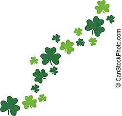 Happy St. Patrick's Day card background clovers