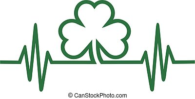 Cardiac frequence with clover shamrock