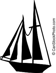 Big Sailing boat silhouette