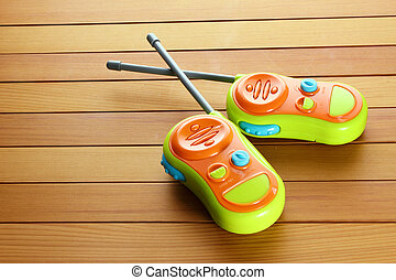 Walkie-talkie Toy on White Background