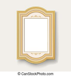 gold picture frame - blank vintage gold picture frame