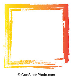 Colorful paint effect frame