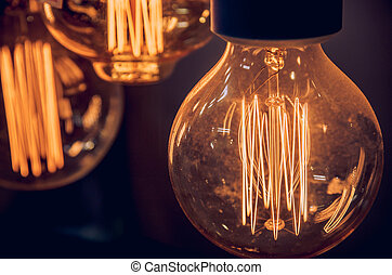 luxury light bulb decoration in shop