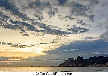 Sunset at Arpoador beach in Ipanema Rio de Janeiro - Sunset...