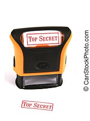 Rubber Stamp - Top Secret - Self inking rubber stamp with...