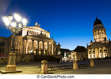 berlin gendarmenmarkt - berlin, gendarmenmarkt at sunset...
