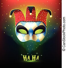 Realistic Carnival Mask Background