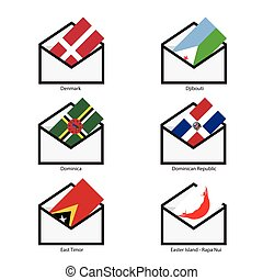 Mail Flags, Opening mail flag