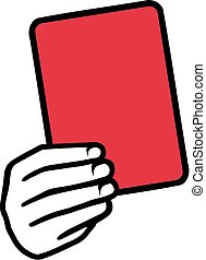 Red Card Hand Soccer
