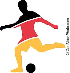 Player Soccer Black Red Yellow