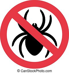 No spiders with ban sign