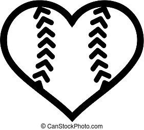 Softball ball heart