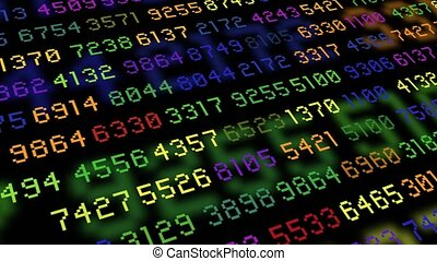 Big data stream computer rainbow color - Big data stream of...