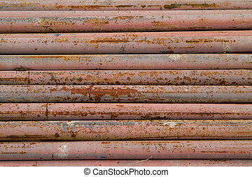 old, rusty metal pipes
