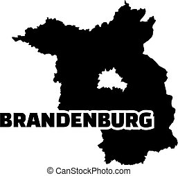 Brandenburg map with title