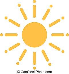 Sun with huge sunrays
