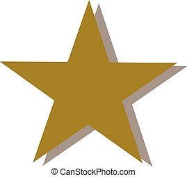 Golden star with shaddow