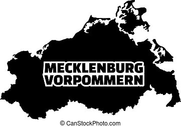 Mecklenburg-Western Pomerania map with german title