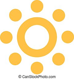 Sun icon with circles as sunrays