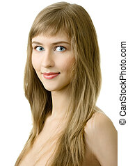 young woman smile isolated