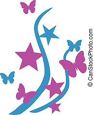 Butterfly Design with stars