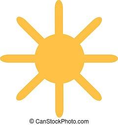 Sun with long sunrays