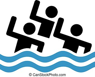 Synchronized swimming team pictogram