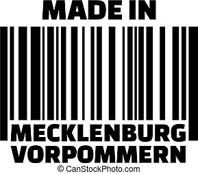 Made in Mecklenburg-Western Pomerania barcode german