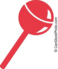 Red lolly icon