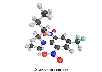 3d structure of benfluralin, a herbicide of the...