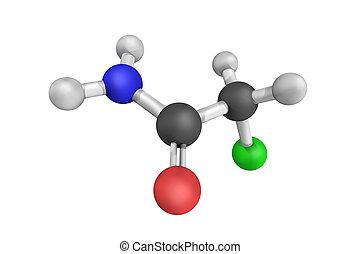 olor, chloroacetamide, utilizado, orgánico, chlorinated,...