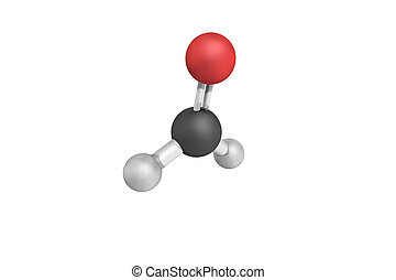 3d structure of Formaldehyde, a naturally occurring organic...