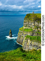 Coast at the Cliffs Of Moher In Ireland