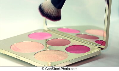 Highlighter And Blush Palette - Golden Face Palette...