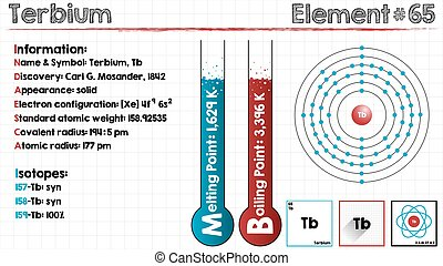 Element of Terbium - Large and detailed infographic of the...