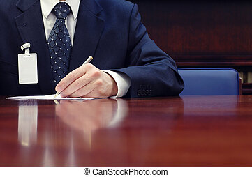 Businessman working on the contract, business meeting ,...