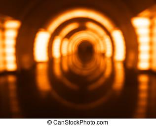 Inside orange spaceship bokeh background hd