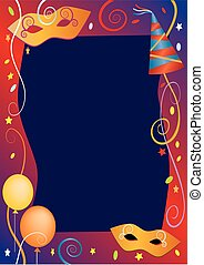 Carnival party background frame.