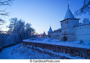 Holy Trinity Ipatiev Monastery at sunrise in winter