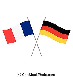 Germany and France flags - Vector illustration German and...