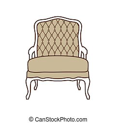 Vintage armchair vector - Vector illustration vintage...