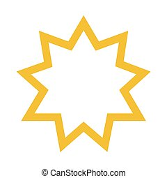 Bahai star vector - Vector illustration religious nine...