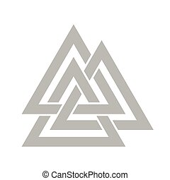 Valknut symbol vector - Valknut symbol of the world end of...