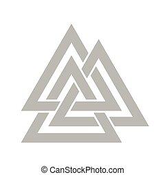 Valknut symbol vector - Valknut symbol of the world end of...