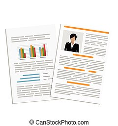 CV design template - Vector illustration cv or resume,...