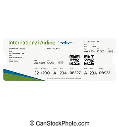 Boarding pass ticket
