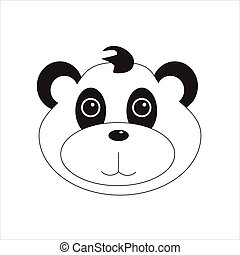 Baby panda vector - Vector illustration cute baby panda...