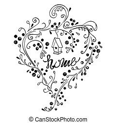 Decorative hand lettering - Home decorative hand lettering...